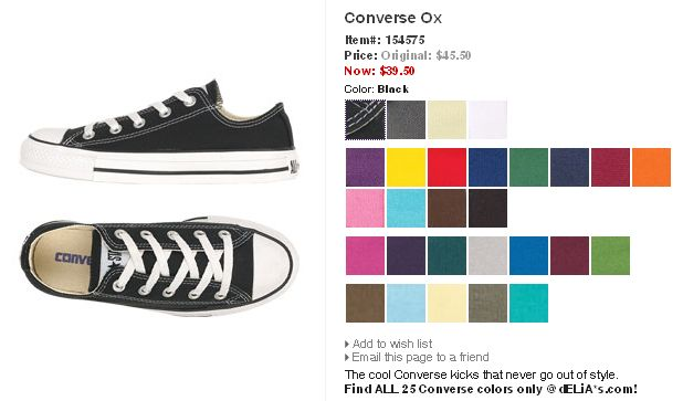 converse colors list - All Converse Colors