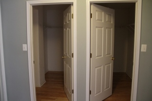 walk in closets!